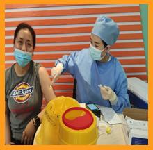 依斯倍环保组织全体员工接种新冠疫苗